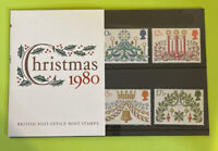1980 GREAT BRITAIN: Set of 5 - Christmas Issue Mint Presentation Set