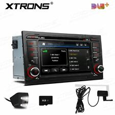 "Double 2 DIN 7"" Car DVD GPS Navi Stereo Radio DAB+ For AUDI A4 S4 RS4 2002-2008"