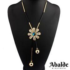 Collar Colgante Mujer Diseño Flor Bijoux Oro Joya Regalo ideal Navidad Reyes