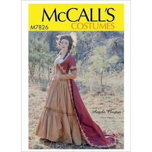 McCalls Sewing Pattern 7826 Misses Historical Costumes Size 6-14