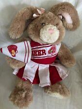 """Build A Bear Rabbit Bunny Brown Poseable Ears 17"""" Soft Babw Cheerleader Fluffy"""