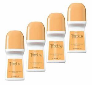 Avon Timeless Roll-on Anti-perspirant Deodorant Bonus Size 2.6 oz (4-Pack)
