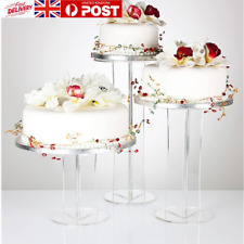 Party Cake Display Stand 3 Position Tiered Clear Acrylic Universal Food Rack