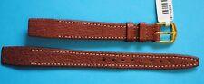 Cinturino Orologio da incollare pelle di vitello 12 mm marrone medio