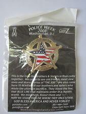 POLICE WEEK 2008 WASHINGTON DC BADGE PIN - MADE BY GUNZ - NEW