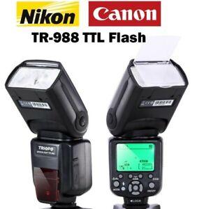 TRIOPO TR-988 E-TTL & I-TTL AF Speedlite TTL Flash for Canon/Nikon SLR DSLR