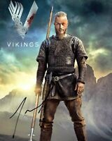 TRAVIS FIMMEL signed Autogramm 20x25cm VIKINGS in Person autograph COA RAGNAR