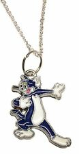 Tom & Jerry Cartoon Tom Character Metal/Enamel Pendant with Chain