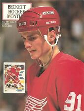 Beckett Hockey Monthly May 1991 Sergei Fedorov cover Al Macinnis back no label