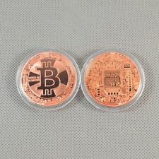 New Solid Copper Commemorative Bitcoin Collectible Golden Iron Miner Coin