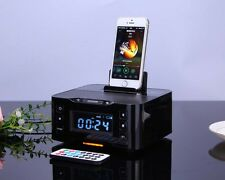 NFC Docking station iPod iPhone 6 5 5S 5C Phone bluetooth speaker & Snooze Clock
