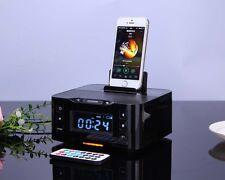 NFC Docking station iPod iPhone 6 5 5S 5C Phone bluetooth speaker & Snooze Clock