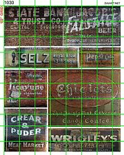 1030 DAVE'S DECALS HO DECALS OLD FADED WEATHERED GHOST BUILDING SIGN ADVERTISING