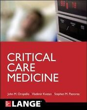 Lange Critical Care Medicine by Oropello (2017, Paperback / Paperback)