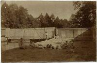 Herrenbad, Original-Photo, um 1910
