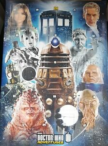 Doctor Who, christmas Advent Calendar, 24 collectables, Dr who adventures, bbc