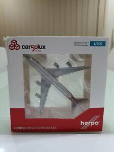HERPA 1/500 CARGOLUX Boeing 747-8F LX-VCC 50th Anniversary - (Damaged Box)