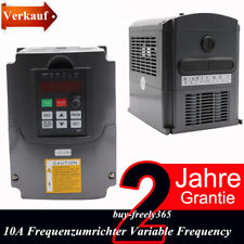HY AC220V Inverseur Variateur de fréquence VFD 2.2kW 10A 3-Phase PWM Contrôle