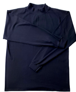 Adult Mock turtleneck Long Sleeve Top.100% cotton. Size S to 3XL. Made in USA