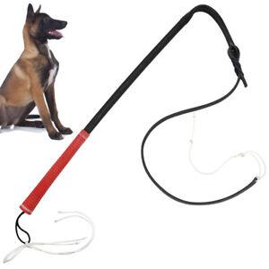 Dog Training Whip Agitation Stick Leather w/Comfortable Handle for SCHUTZHUND K9