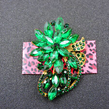 Crystal Charm Woman Brooch Pin Betsey Johnson Rhinestone Decorate Flower Bling