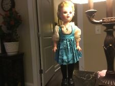 1950's-Vintage-17� Doll-Marked #9-Dressed-Dress/Shoes/Ho se-Free. Shipping-Look!