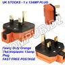 NEW ORANGE Permaplug 13 Amp 230V UK 3 Pin Heavy Duty Rubber Body Rewirable Plug