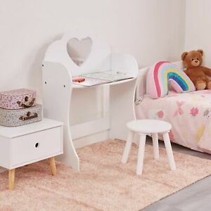 Children's Dressing Table and Stool - White Dressing Table and Chair