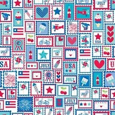 Star Spangled Red Main by Doodlebug Designs for Riley Blake, 1/2 yard fabric