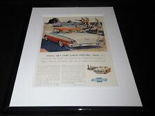 1958 Chevrolet V8 Framed 11x14 ORIGINAL Vintage Advertisement