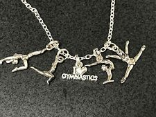 "Gymnastics I Love Performer Athlete Charm Tibetan Silver 18"" Necklace Mix 5"