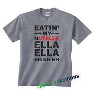 eatin 'My NUTELLA Divertido media manga Unisex Camiseta Regalo Humor Broma
