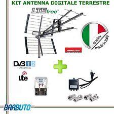KIT ANTENNA DIGITALE TERRESTRE UHF DVBT-T2 TAGLIO LTE AMPLIFICATORE ALIMENTATORE