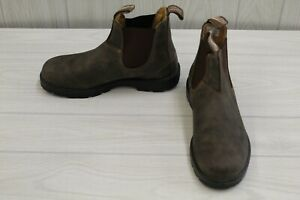 Blundstone 585 Elastic Sided Ankle Boot - AUS 7.5/W 10.5/M 8.5 - Rustic Brown