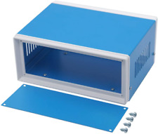 Zulkit Junction Box Blue Metal Rectangle Project Box Diy Electric Enclosure Case