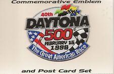 40th Annual 1998 Daytona 500 Commemorative Emblem Patch 6- Post Card Set