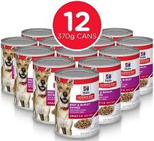 Hills Science Diet Adult Beef And Barley Entrée Canned Dog Food, 370g, 12 Pack
