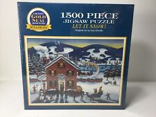NOS 1996 Gold Seal Jigsaw Puzzle LET IT SNOW  1500 Pieces- SEALED NEW