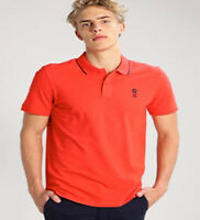 JACK AND JONES Men's Stone Noos Short Sleeve Polo T-Shirt Poppy Red