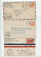 3 WWII military covers APO 241 and naval [y3956]
