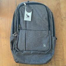 Oiwas Laptop Backpack 17in Travel Bookbag Grey Padded Usb