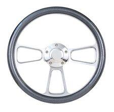 "Kubota, Tomberlin Golf Cart 14"" Carbon Fiber Steering Wheel, Horn & Adapter"