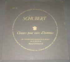 Schubert  Chaurs Pour Voix D'hommes Marcel Couraud Les Discophiles DF 79 LP EX
