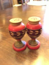 Salt & Pepper Shakers as shown set 3 Wood Mexico