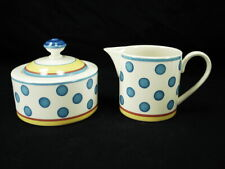 VILLEROY & BOCH TWIST ANNA CREAMER AND SUGAR BOWL W / LID IN EXCELLENT CONDITION