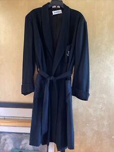 NWOT Saks Fifth Ave Men's 100% Cashmere Black Smoking Dinner Dress Robe L