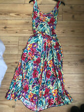 Marks And Spencer Ladies Summer Floral Midi Dress Size 10