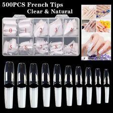 500pcs Artificial Nails French False Half Nail Art Tip Acrylic Gel Natural Clear