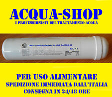 "FILTRO ACQUA IN LINE AIC-12  11 "" X 2,5 "" CARBONE - 3000 GAL - OSMOSI DEPURATORE"