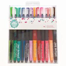 JANE DAVENPORT 12 MERMAID MARKERS DYE INK BRUSH watercolor assorted colors set